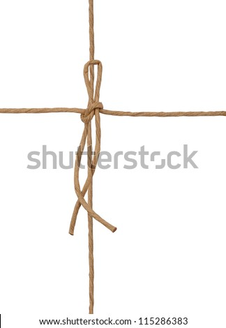 String tied in wrapping white box