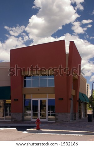 Strip Mall - Corner Store Restaurant