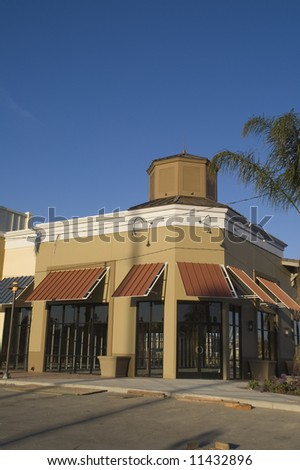 Strip Mall Under Construction - stock photo
