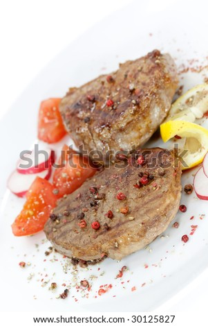 Strip Steak with vegetables