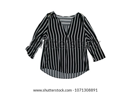 striped blouse on a white background