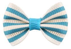 Striped bow tie white blue stripes