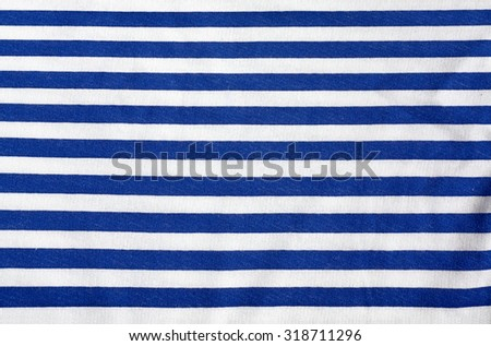 Striped cloth. Horizontall blue stripes. Clothing sailor. Background. Texture. #318711296