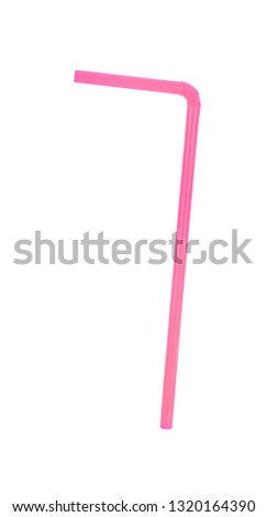 Striped colorful drinking straws vector illustration #1320164390
