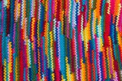 striped colorful wool texture handmade patten closeup macro blue red green yellow pink purple orange