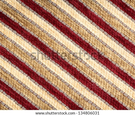 Striped fabric texture. Clothes background. Close up
