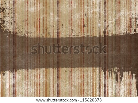 Striped grunge background in brown colors - stock photo