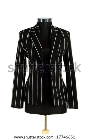 Striped jacket isolated on the white background