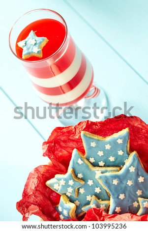 Striped Jelly and Star Cookies