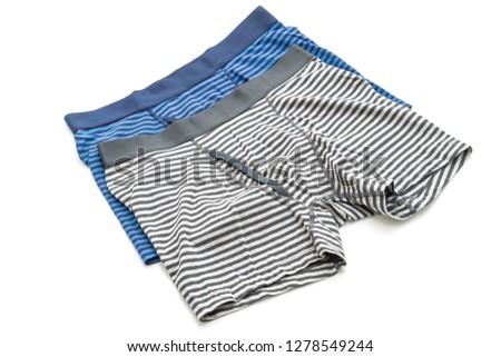 striped men underwear isolated on white background #1278549244