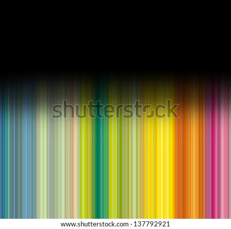 Striped multicolor background with black gradient