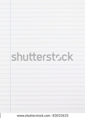 Striped notebook paper texture with left margin