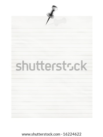 striped office paper on a white background