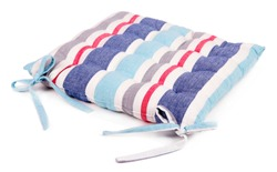 Striped pillow isolated on white