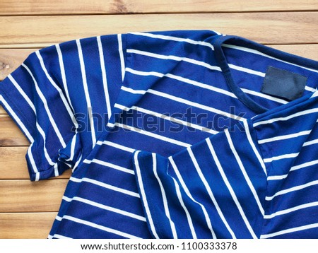 Striped Round Short Sleeve T-shirt #1100333378