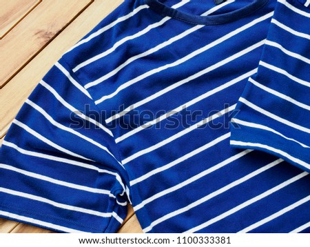 Striped Round Short Sleeve T-shirt #1100333381