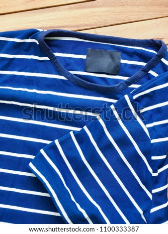 Striped Round Short Sleeve T-shirt #1100333387