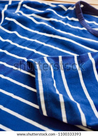 Striped Round Short Sleeve T-shirt #1100333393