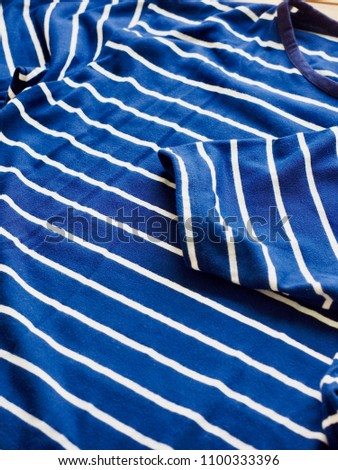 Striped Round Short Sleeve T-shirt #1100333396