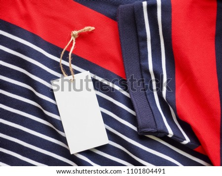 Striped Round Short Sleeve T-shirt, Clothing label  #1101804491