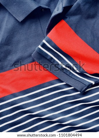 Striped Round Short Sleeve T-shirt, Clothing label  #1101804494