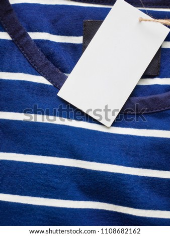 Striped Round Short Sleeve T-shirt, Clothing label  #1108682162