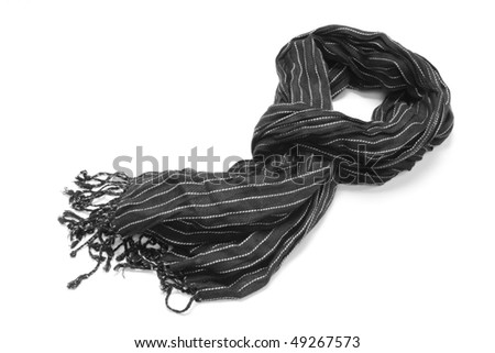 striped scarf isolated on white