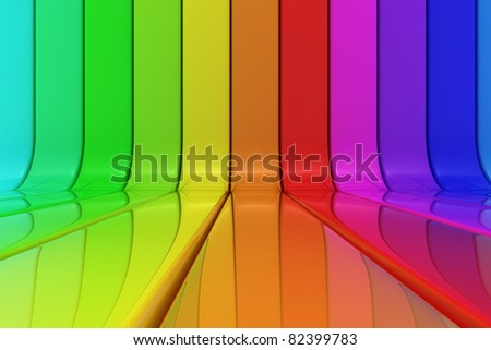 Striped shiny pattern of rainbow colors
