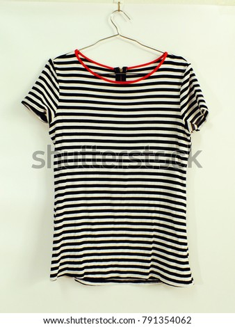 striped shirt hanging fashion clothing marine style #791354062