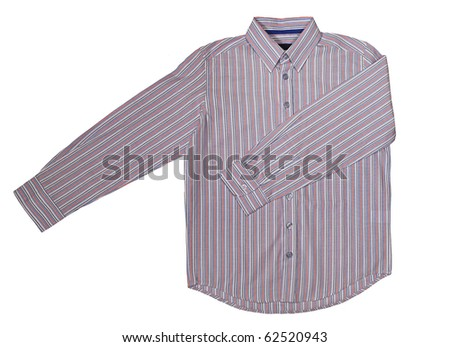 striped shirt isolated on white