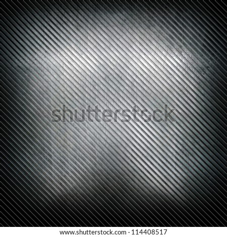 striped steel plate - stock photo