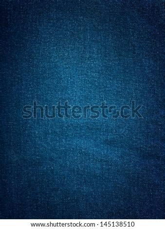 Striped textured blue jeans denim linen fabric background
