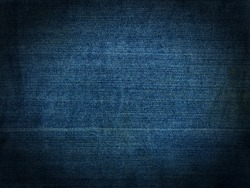 Striped textured blue used dirty jeans denim linen vintage background