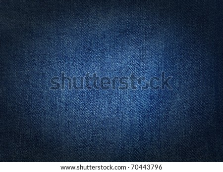 Striped textured used blue jeans denim fabric grunge background