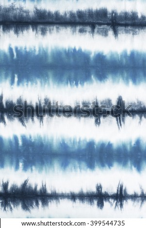 striped tie dye pattern on cotton fabric abstract background.   #399544735