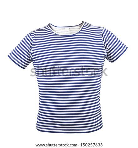 Striped vest T-shirt. Front.