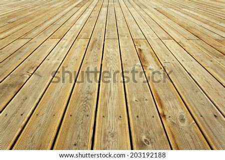 Striped wooden plank background and texture in diminishing perspective
