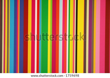 Stripes of colors on a window pane.