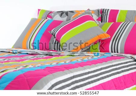 Stripped bedding set.