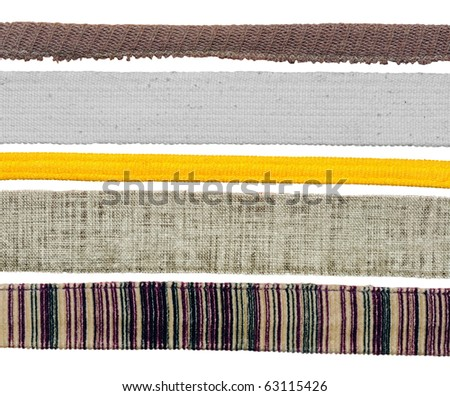 Strips of fabric
