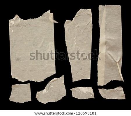 Strips of masking tape