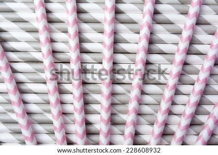 Strips Party Paper Straws Background Pattern