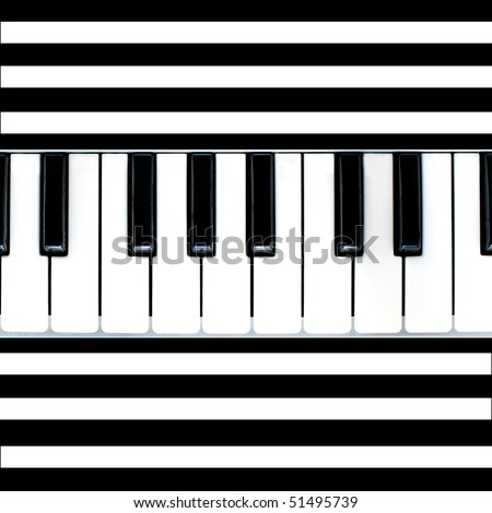 Stripy black-and-white piano background