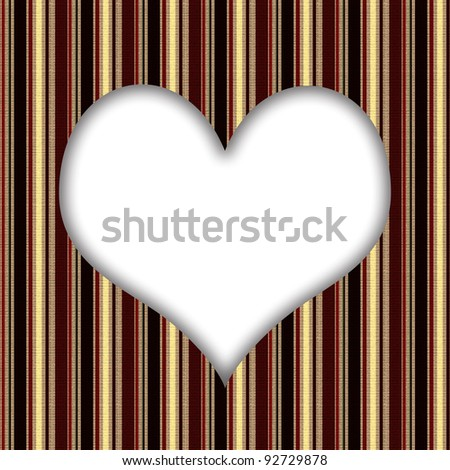stripy retro card with heart