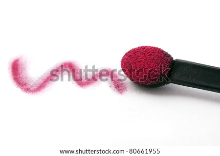 stroke of eyeshadow made with a brush