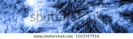 Stroke Painting. Abstract Dirty Art Artwork. Dirty Art Oil Fabric.  Indigo Texture. Grunge  Acrylic Textile. Stroke Painting Illustration.