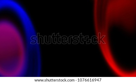Stroke shining lines with chromatic aberrations, abstract computer generated backdrop, 3D rendering