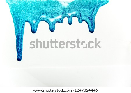 strokes and blots of paint on white background #1247324446
