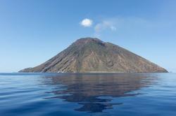 Stromboli volcano, eolian island, Sicily, Italy