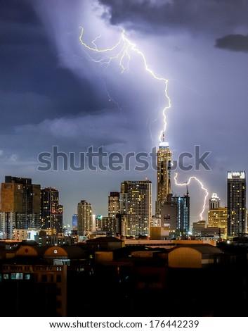 Stock Photo Stroming in Bangkok city